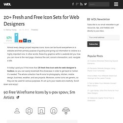 Article: 20+ Fresh & Free Icon Sets for Web Designer's Toolbox