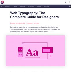 The Designer's Guide To Web Typography