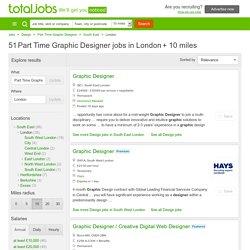 Part Time Graphic Designer Job Vacancies London - totaljobs