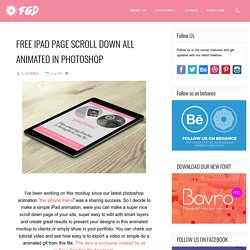 Free PSD Goodies and Mockups for Designers: FREE IPAD PAGE SCROLL DOWN ALL ANIMATED IN PHOTOSHOP