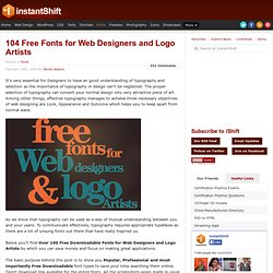 104 Free Fonts for Web Designers and Logo Artists | Fonts