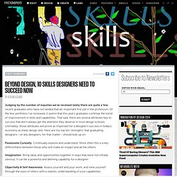 Beyond Design, 10 Skills Designers Need to Succeed Now