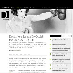 Designers: Learn To Code! Here's How To Start