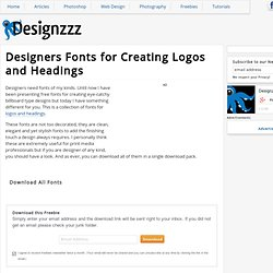 Designers Fonts for Creating Logos and Headings