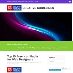 Creative Guidelines- Top 10 Free Icon Packs for Web Designers Online