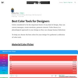 Best Color Tools for Designers – Web Design Tips & Tricks – Medium