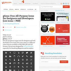 gCons: Free All-Purpose Icons for Designers and Developers (100 icons PSD) - Smashing Magazine
