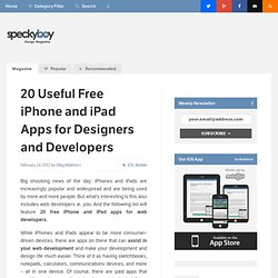 20 Useful Free iPhone and iPad Apps for Designers and Developers