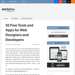 50 Free Tools and Apps for Web Designers and Developers