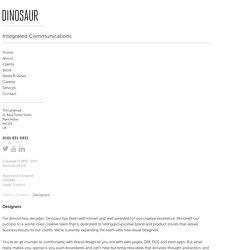Designers - Dinosaur