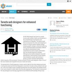 Toronto web designers for enhanced structuring