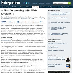 8 Tips for Working With Web Designers - designing a business website - Entrepreneur.com