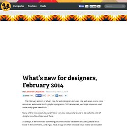 What's new for designers, February 2014