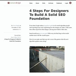 4 Steps For Designers To Build A Solid SEO Foundation