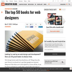 The top 50 books for web designers