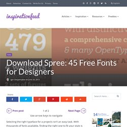 Download Spree: 45 Free Fonts for Designers