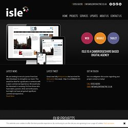 Isle Interactive. Website design and build, content management and digital consultancy