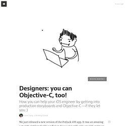 Designers: you can Objective-C, too! — Building Potluck
