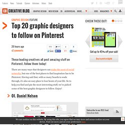 Top 20 graphic designers to follow on Pinterest