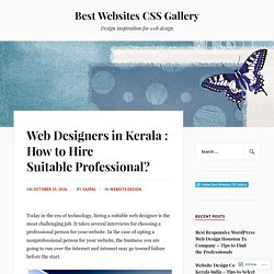 Web Designers in Kerala : How to Hire Suitable Professional? – Best Websites CSS Gallery