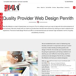 Quality Provider Web Design Penrith