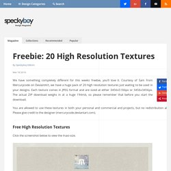 Freebie for Designers: 20 High Resolution Textures