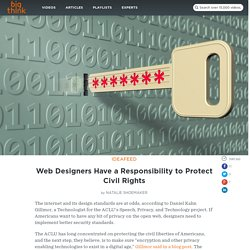 Web Designers Have a Responsibility to Protect Civil Rights