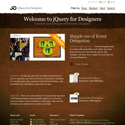 jQuery for Designers - Tutorials and screencasts