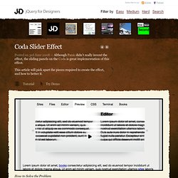 jQuery for Designers - Tutorials and screen