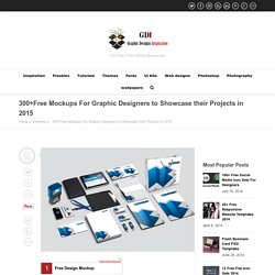 300+Free Mockups For Graphic Designers to Showcase their Projects in 2015