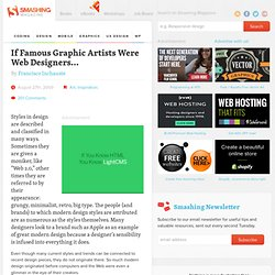 If Famous Graphic Artists Were Web Designers... | Inspiration |