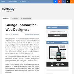 Ultimate Grunge Toolbox for Web Designers