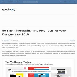 35 Free Time-Saving Web Apps for Web Designers from 2016 - Speckyboy Design Magazine