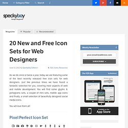 20 New and Free Icon Sets for Web Designers