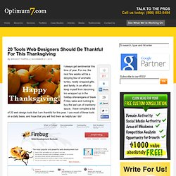 20 Tools Web Designers Should Be Thankful For This Thanksgiving