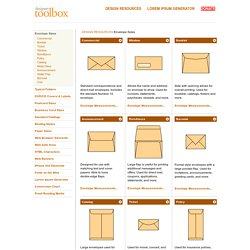Designers Toolbox Envelopes