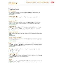 Designers Toolbox Design Magazines