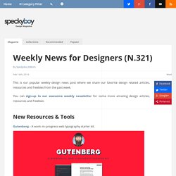 Weekly News for Designers (N.321) -Typography Starter Kit, Flexbox Toolbox, Pixel Art to CSS