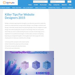 Tips for Web Designers, Website Design Ideas 2015