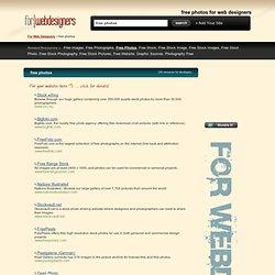 Free Photos for Web Designers - Website Design Resources