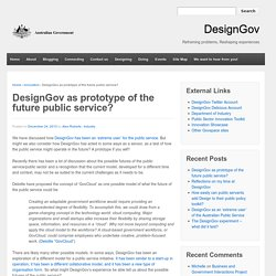 DesignGov as prototype of the future public service?