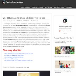 25+ HTML5 and CSS3 Sliders Free To Use - DesignGrapher.Com