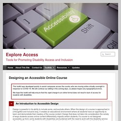 Designing an Accessible Online Course - Explore Access