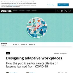 Report: Designing for adaptive work post COVID-19