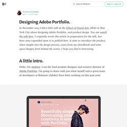 Designing Adobe Portfolio.