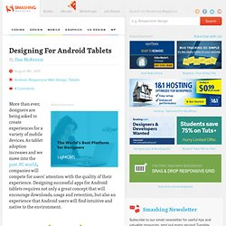 Designing For Android Tablets - Smashing Magazine