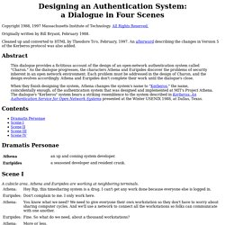 Designing an Authentication System: a Dialogue in Four Scenes