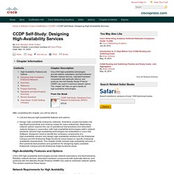 CCDP Self-Study: Designing High-Availability Services > High-Availability Features and Options