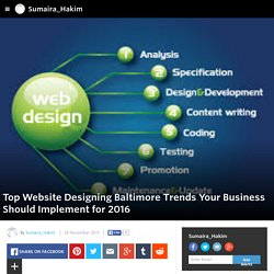 Sumaira_Hakim - Top Website Designing Baltimore Trends Your Business Should Implement for 2016