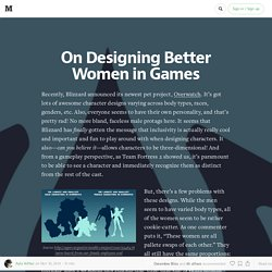 On Designing Better Women in Games